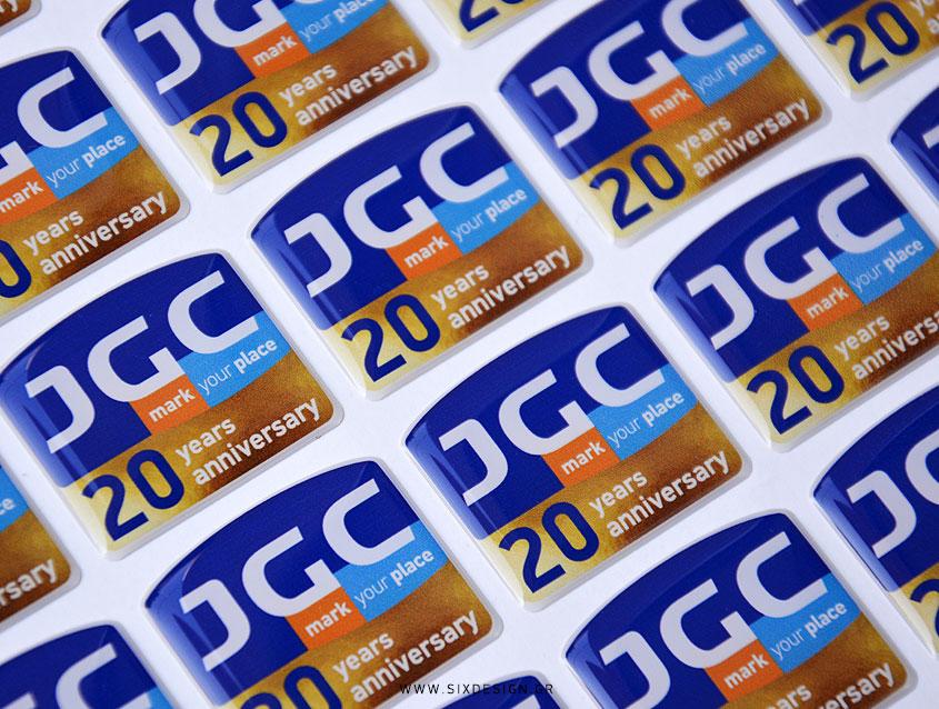Διαφημιστικα αυτοκολλητα σμαλτο σμαλτου doming stickers