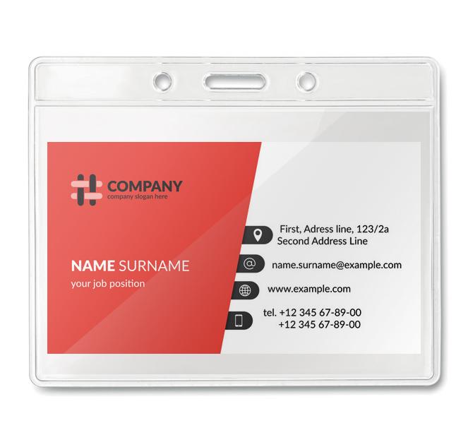 Πλαστικές Θήκες BG8599. Πλαστικές θήκες συνεδρίων Πλαστική θήκη καρτας